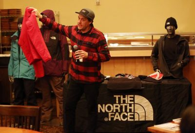 Stan Kosmider with The North Face gives a presentation on how to dress for cold temperatures at the Stratton Mountain Club
